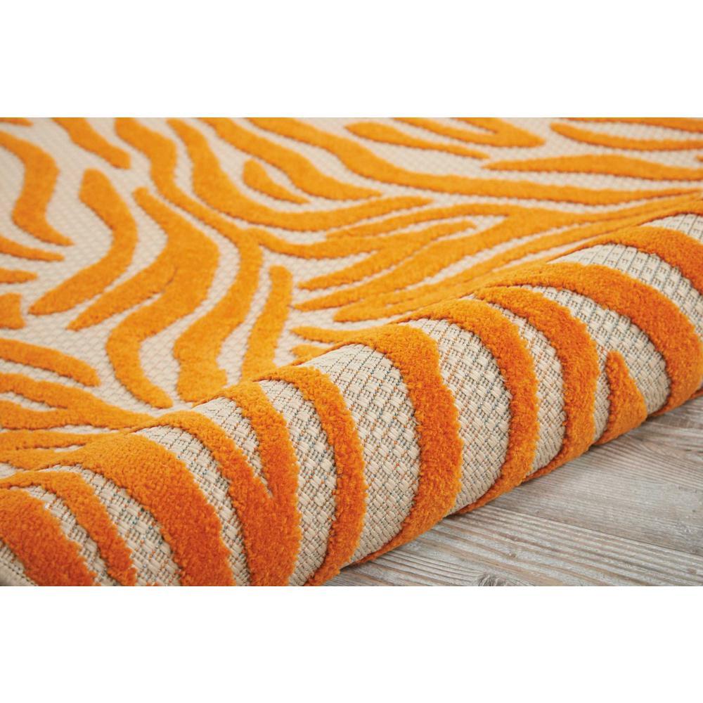 8' x 11' Orange Zebra Pattern Indoor Outdoor Area Rug - 384592. Picture 3