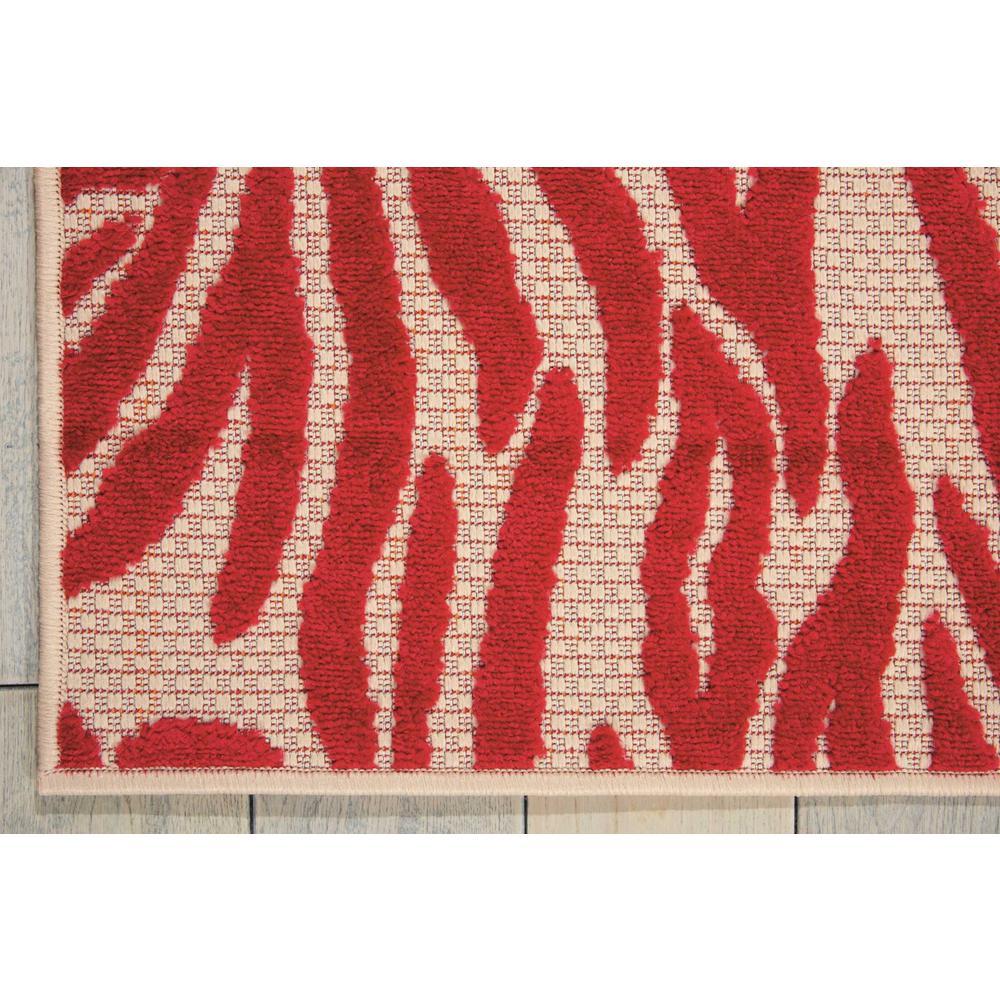 4' x 6' Red Zebra Pattern Indoor Outdoor Area Rug - 384594. Picture 2