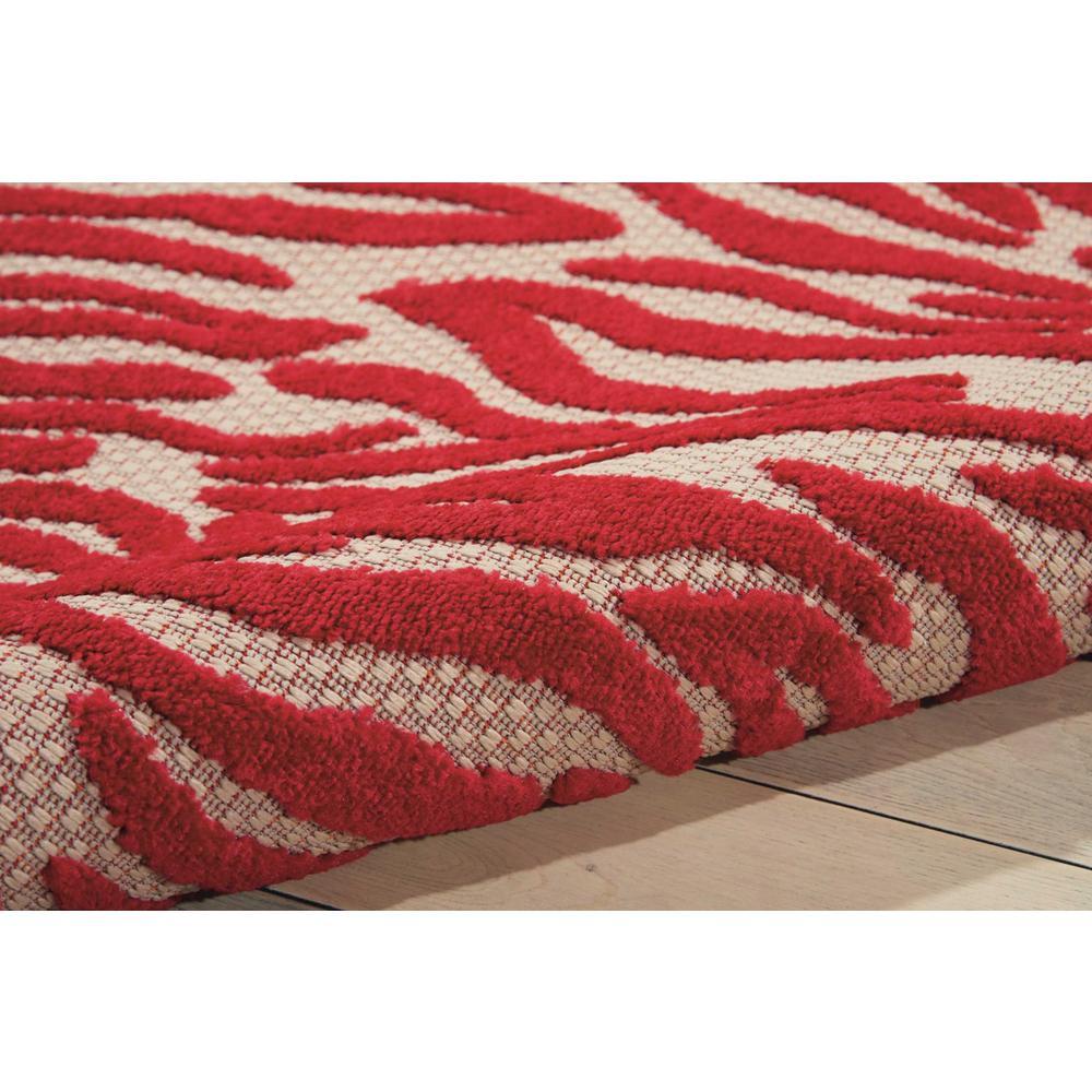 5' x 8' Red Zebra Pattern Indoor Outdoor Area Rug - 384595. Picture 3