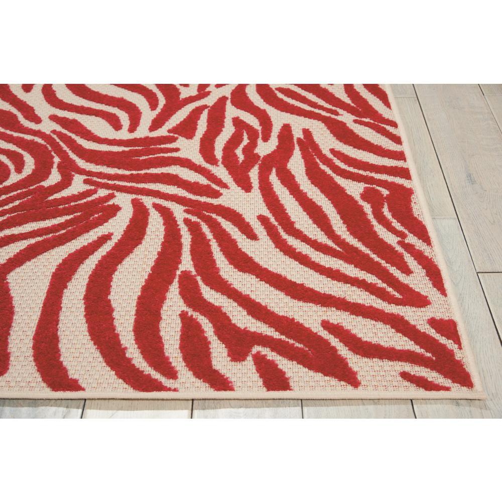 5' x 8' Red Zebra Pattern Indoor Outdoor Area Rug - 384595. Picture 5
