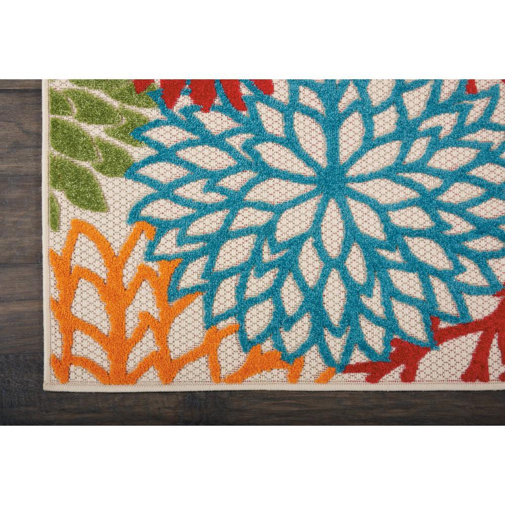 2' x 12' Green Floral Indoor Outdoor Runner Rug - 384605. Picture 2