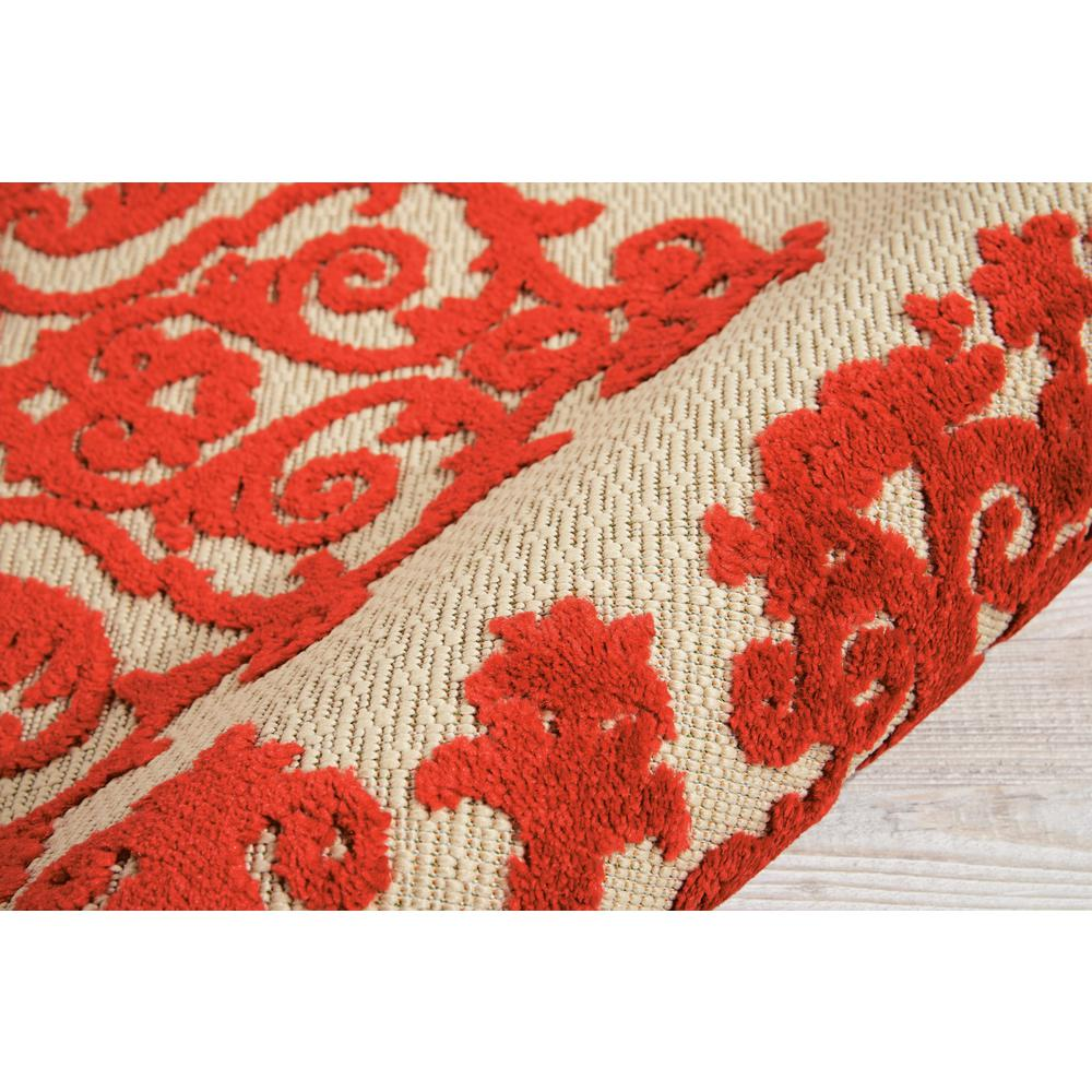 3' x 4' Red Medallion Indoor Outdoor Area Rug - 384759. Picture 3