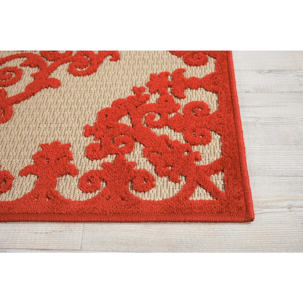 3' x 4' Red Medallion Indoor Outdoor Area Rug - 384759. Picture 5