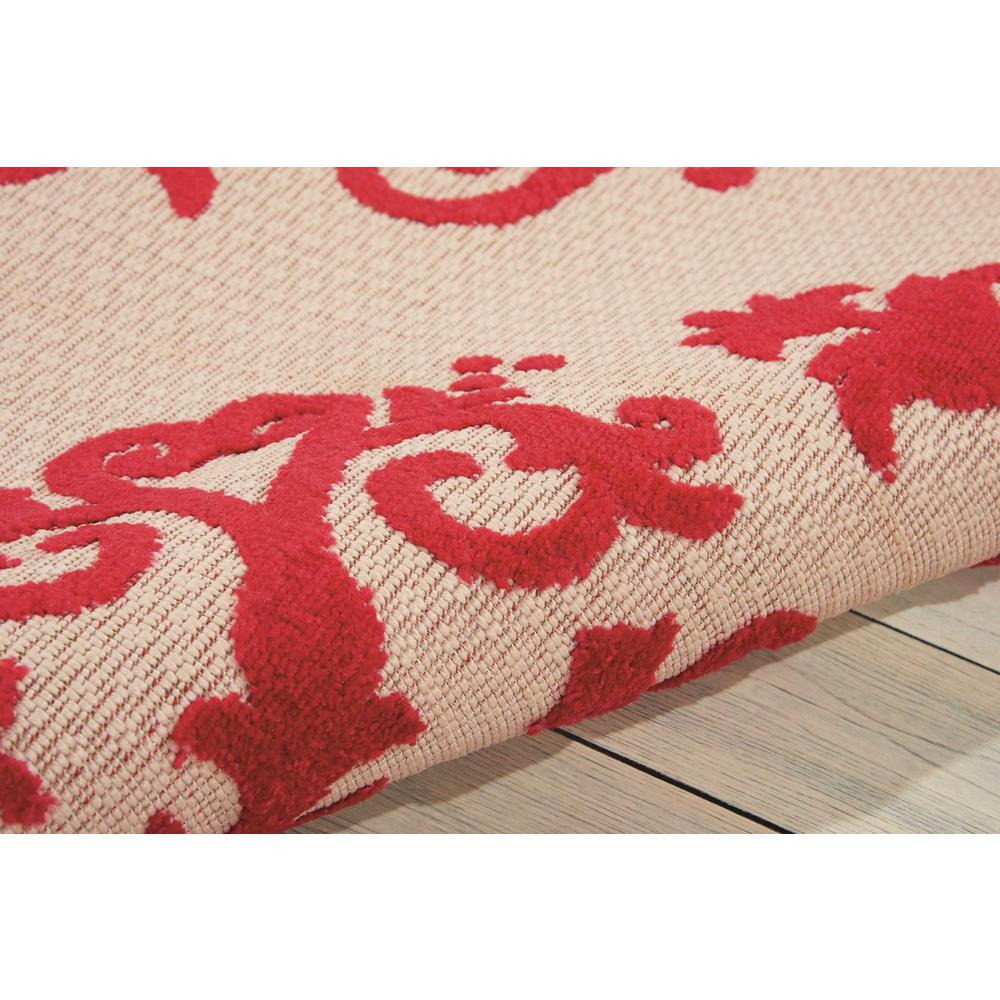 4' x 6' Red Medallion Indoor Outdoor Area Rug - 384760. Picture 3