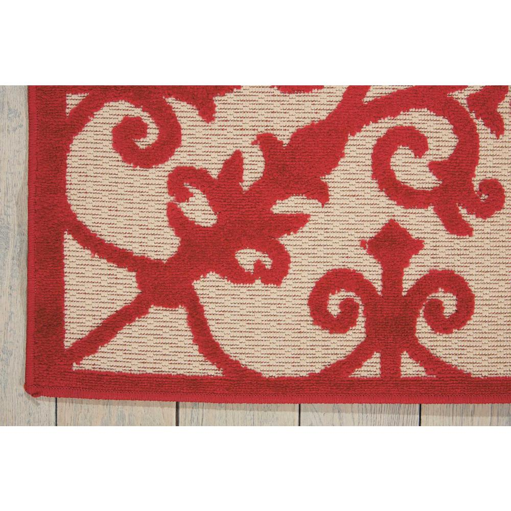 5' x 8' Red Medallion Indoor Outdoor Area Rug - 384762. Picture 2