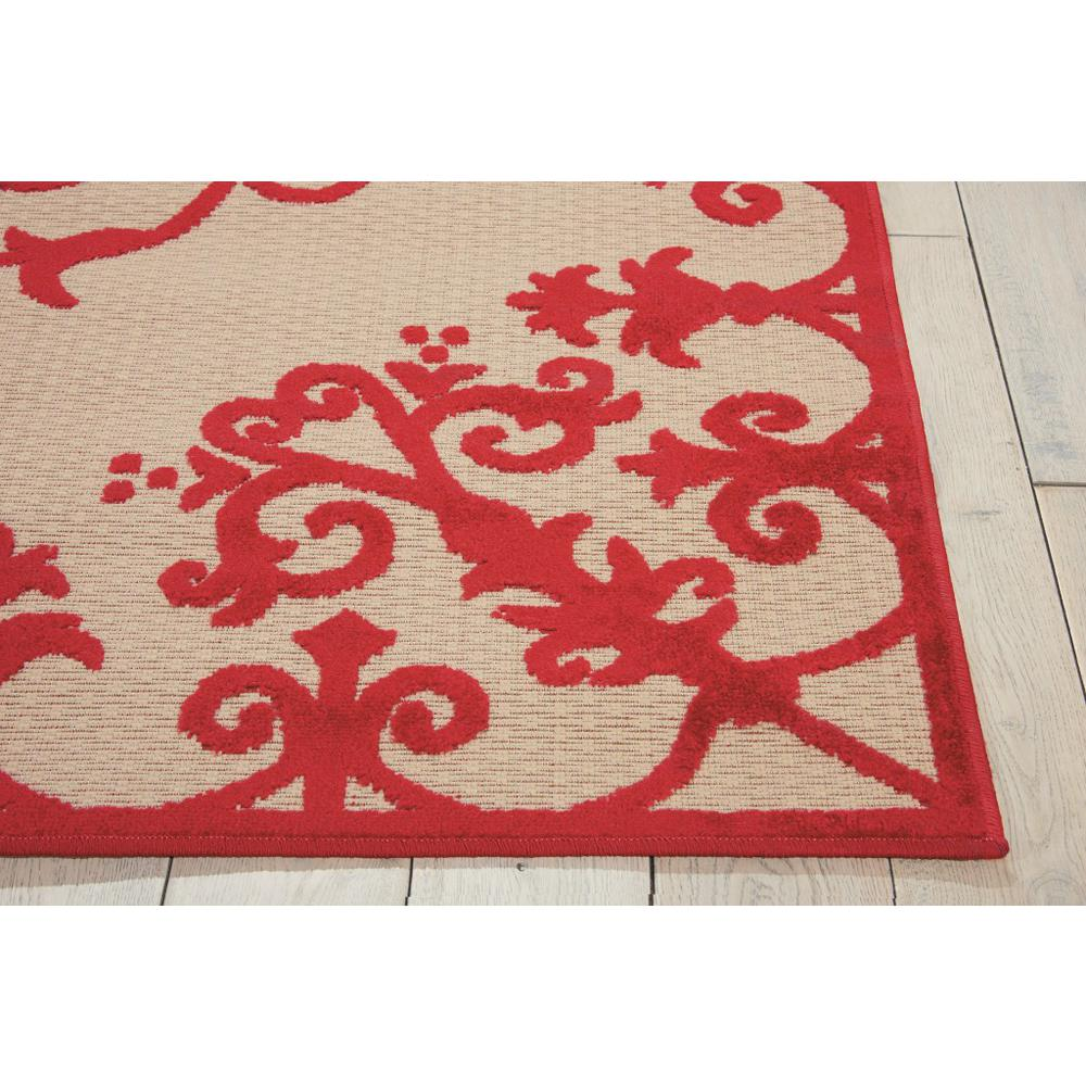 5' x 8' Red Medallion Indoor Outdoor Area Rug - 384762. Picture 5