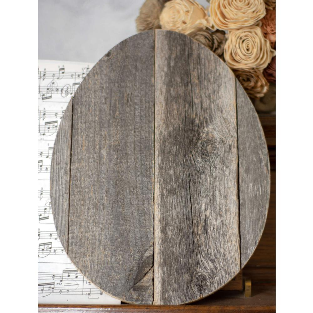 """12"""" Farmhouse Weathered Gray Wooden Large Egg - 384887. Picture 4"""