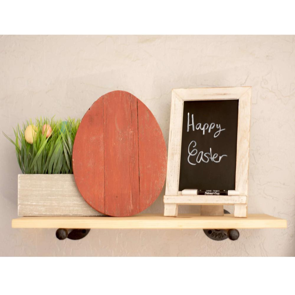 """12"""" Farmhouse Red Wooden Large Egg - 384891. Picture 3"""