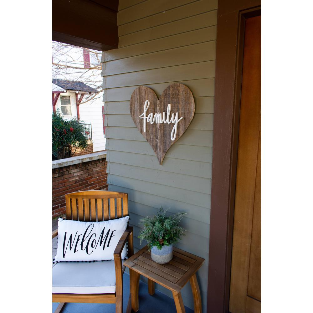 """12"""" Farmhouse Gray Wooden Heart - 384900. Picture 3"""