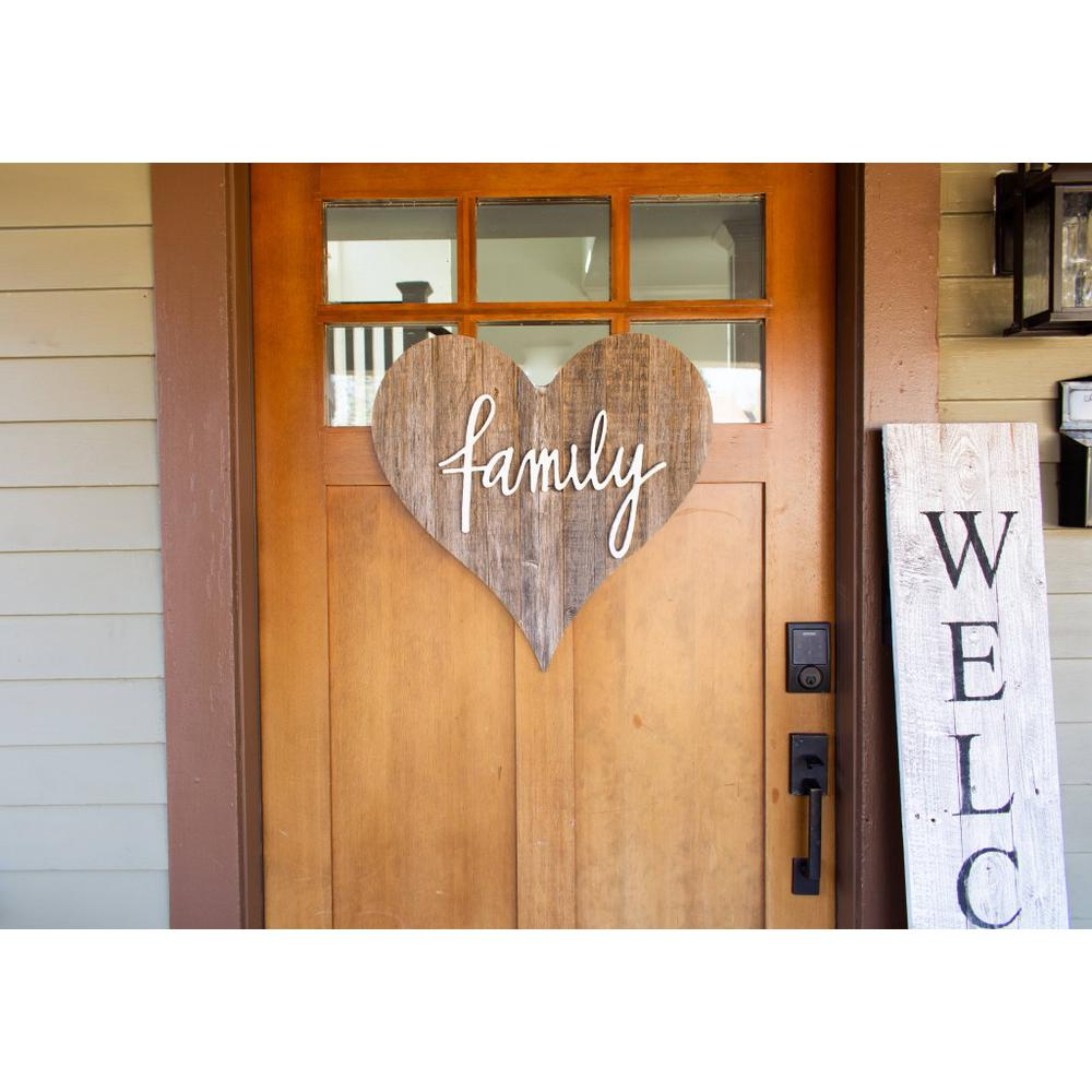 """12"""" Farmhouse Gray Wooden Heart - 384900. Picture 5"""