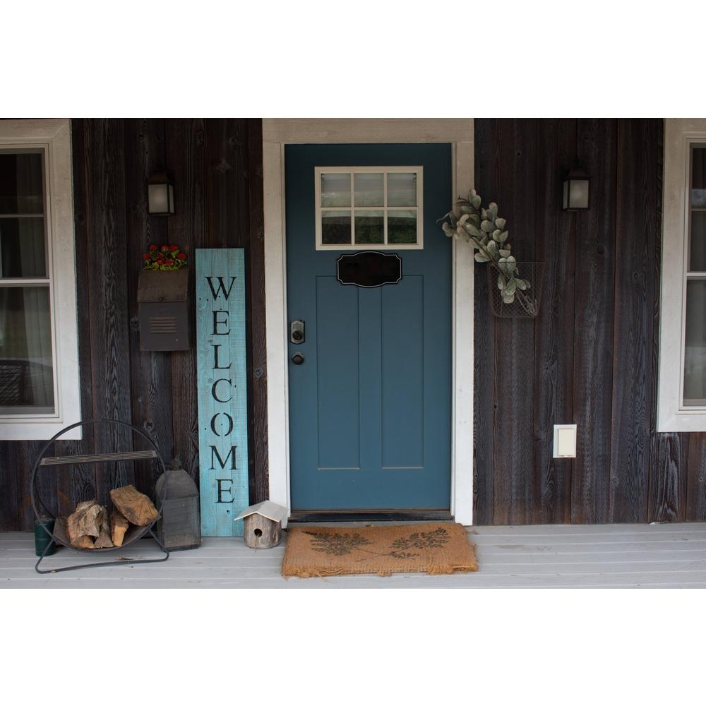 Rustic Light Aqua Blue Front Porch Welcome Sign - 384912. Picture 2