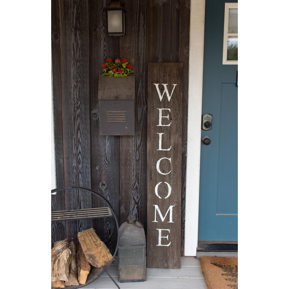 Rustic Espresso Brown and White Front Porch Welcome Sign - 384913. Picture 4