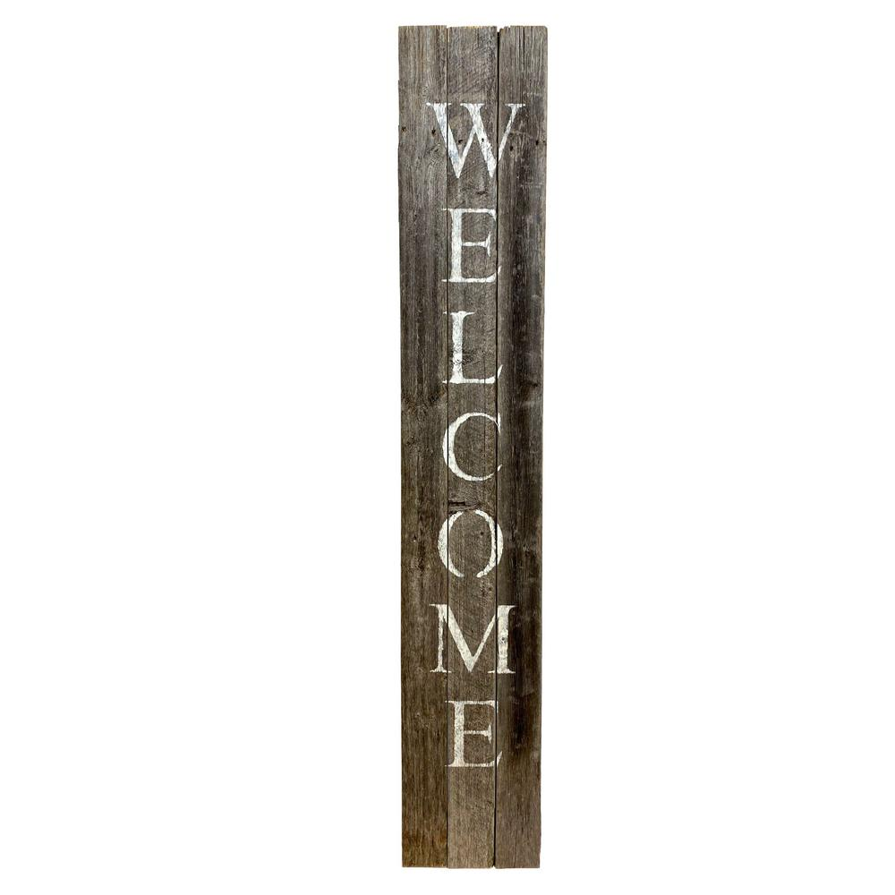 Rustic Dark Gray and White Front Porch Welcome Sign - 384914. Picture 1