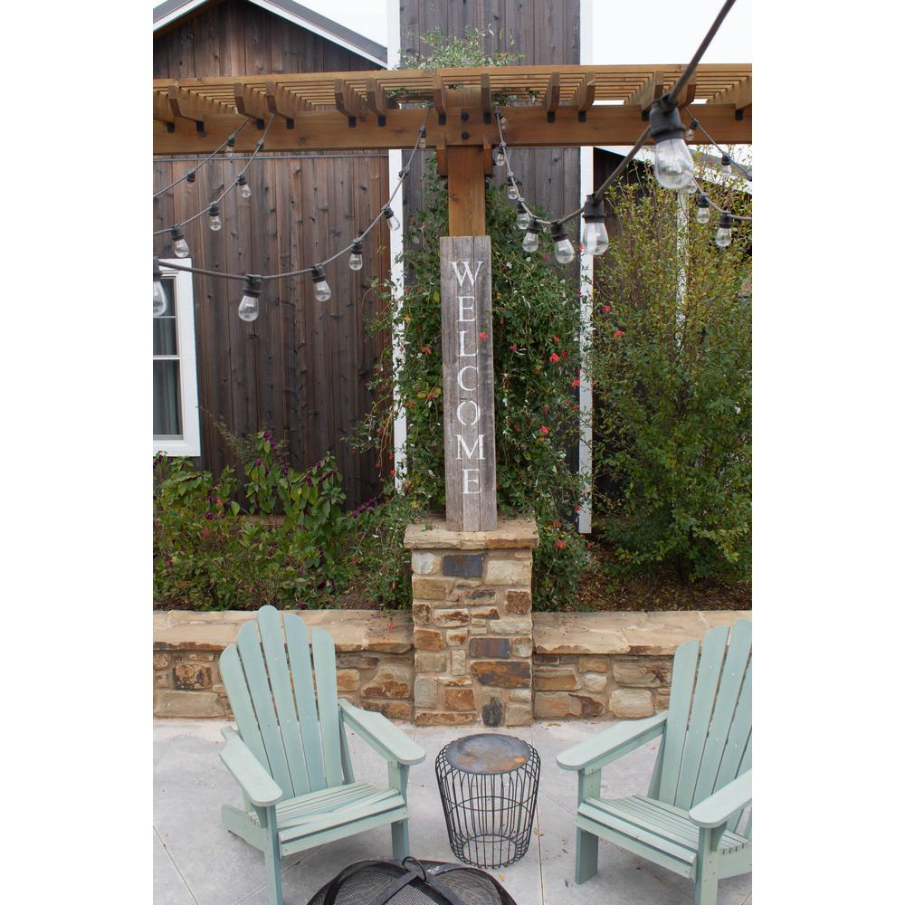 Rustic Dark Gray and White Front Porch Welcome Sign - 384914. Picture 3