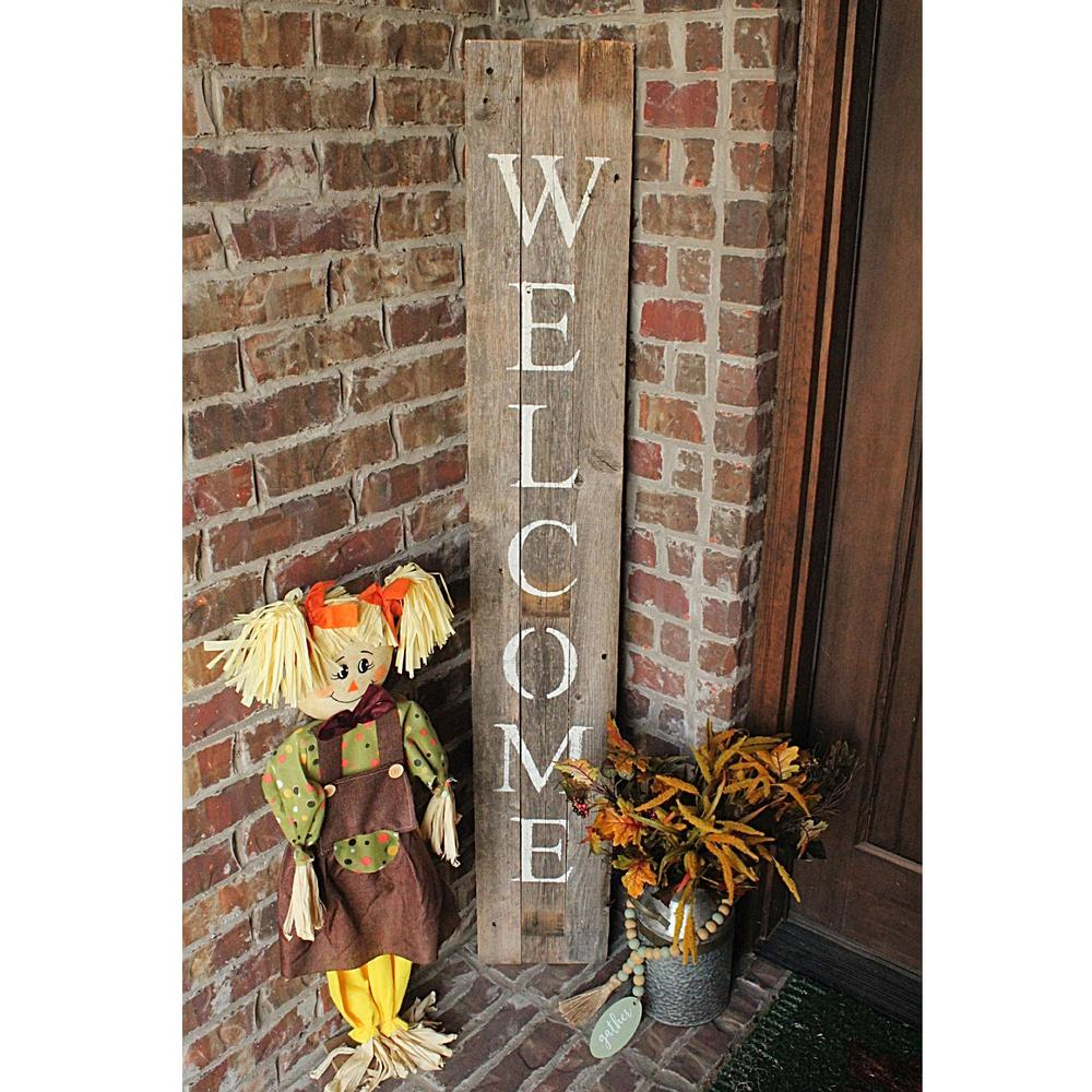 Rustic Dark Gray and White Front Porch Welcome Sign - 384914. Picture 4