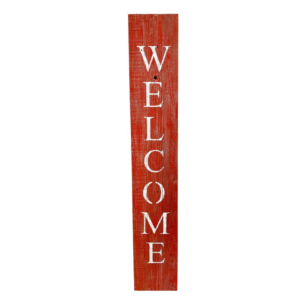 Rustic Red and White Front Porch Welcome Sign - 384915. Picture 1