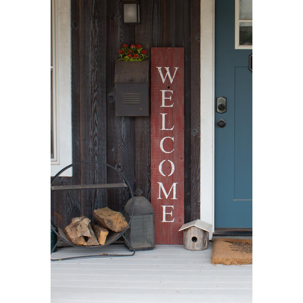 Rustic Red and White Front Porch Welcome Sign - 384915. Picture 2