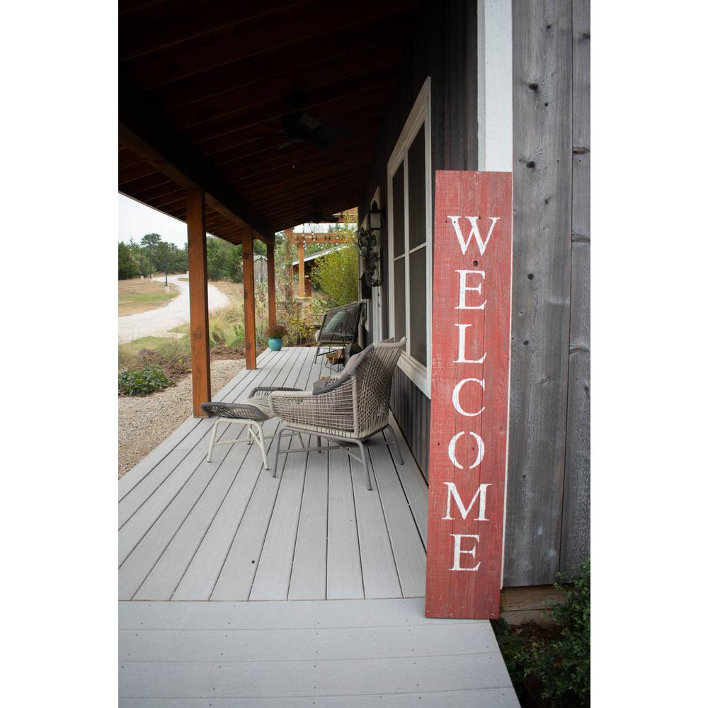 Rustic Red and White Front Porch Welcome Sign - 384915. Picture 4