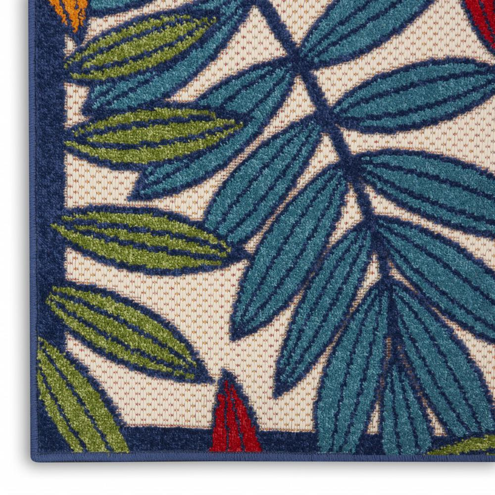 2'x 8' Multicolored Leaves Indoor Outdoor Runner Rug - 384939. Picture 5