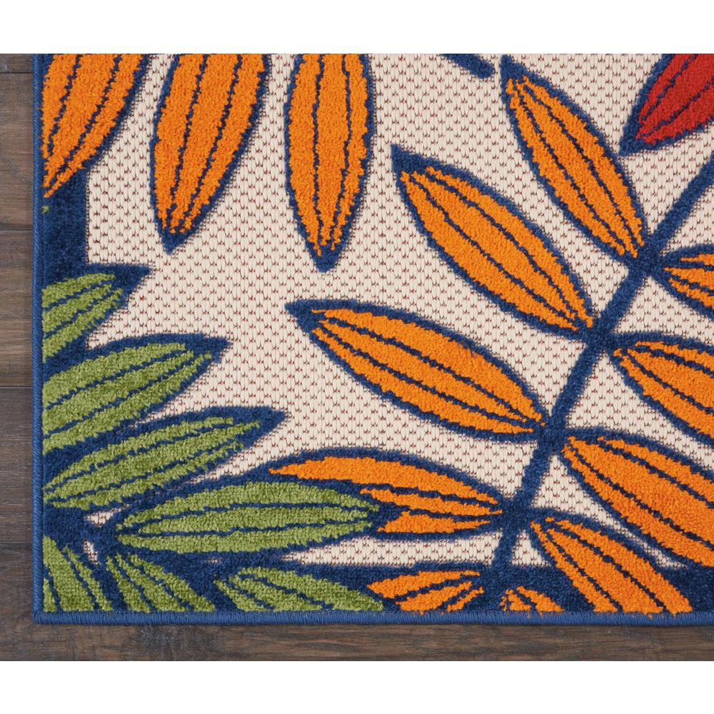 3'x 4' Multicolored Leaves Indoor Outdoor Area Rug - 384940. Picture 2