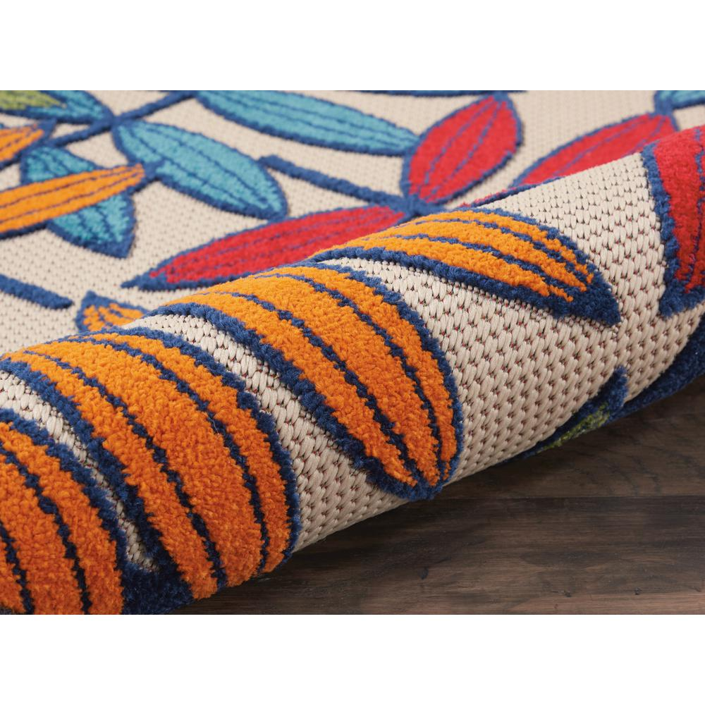 3'x 4' Multicolored Leaves Indoor Outdoor Area Rug - 384940. Picture 3