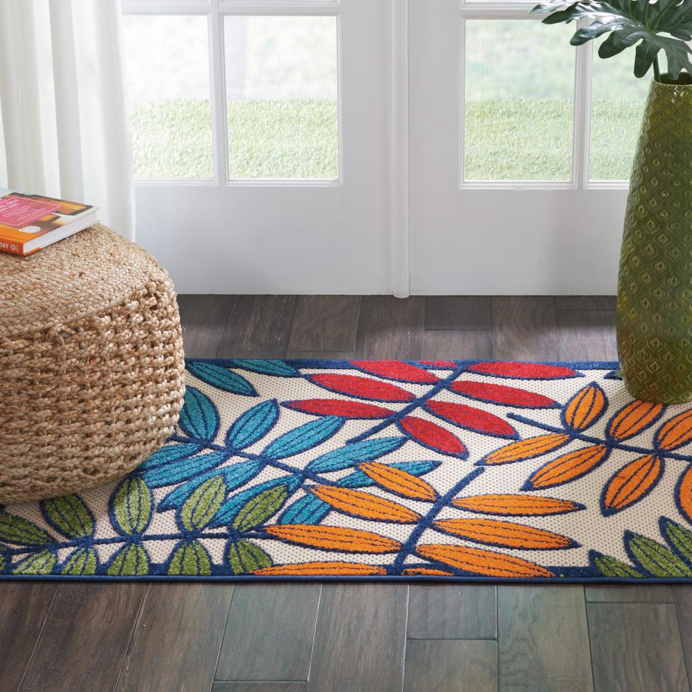 3'x 4' Multicolored Leaves Indoor Outdoor Area Rug - 384940. Picture 4