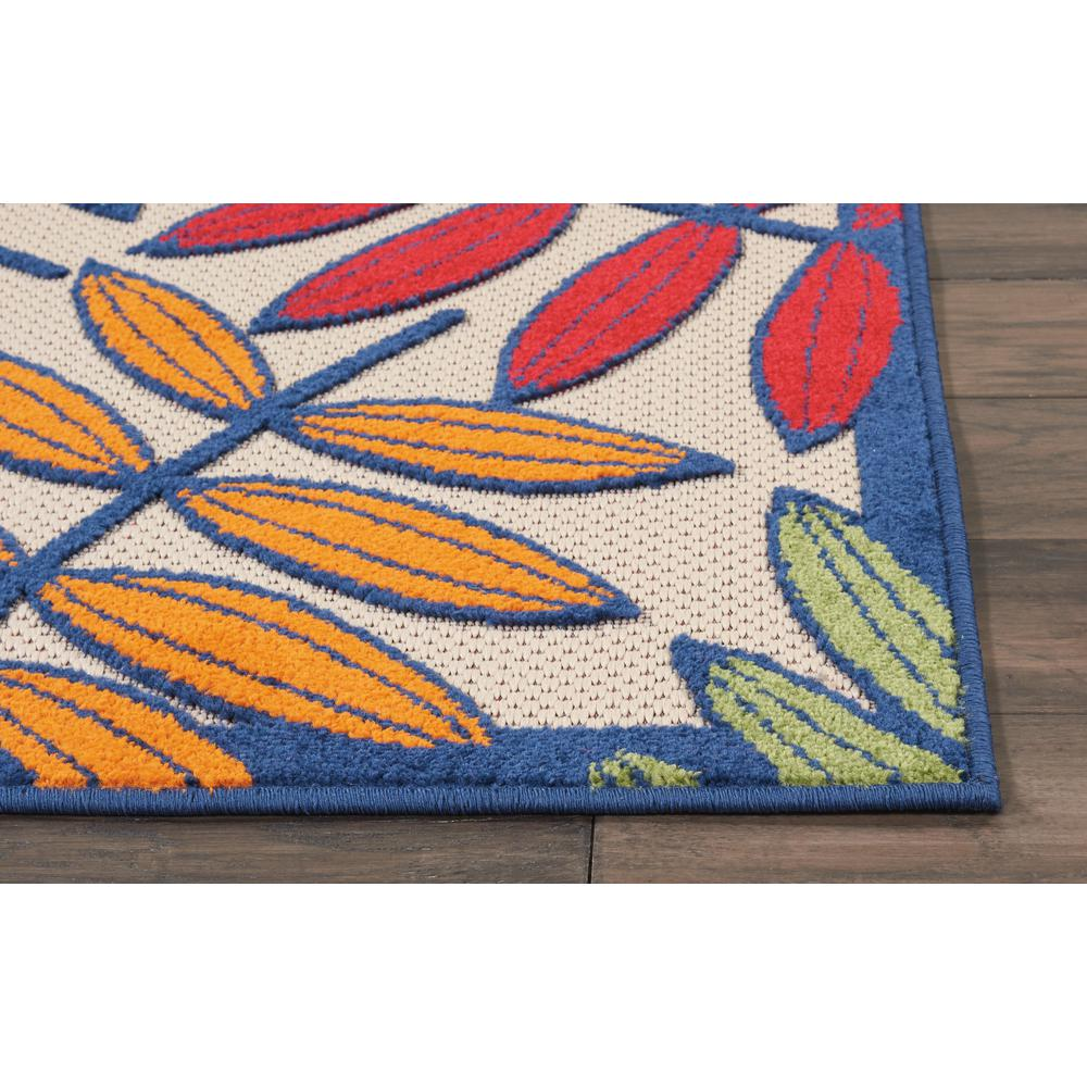 3'x 4' Multicolored Leaves Indoor Outdoor Area Rug - 384940. Picture 6