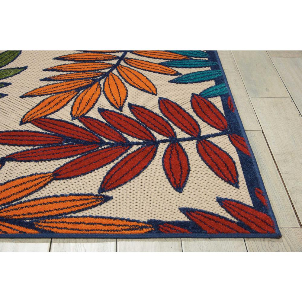 4'x 6' Multicolored Leaves Indoor Outdoor Area Rug - 384941. Picture 6