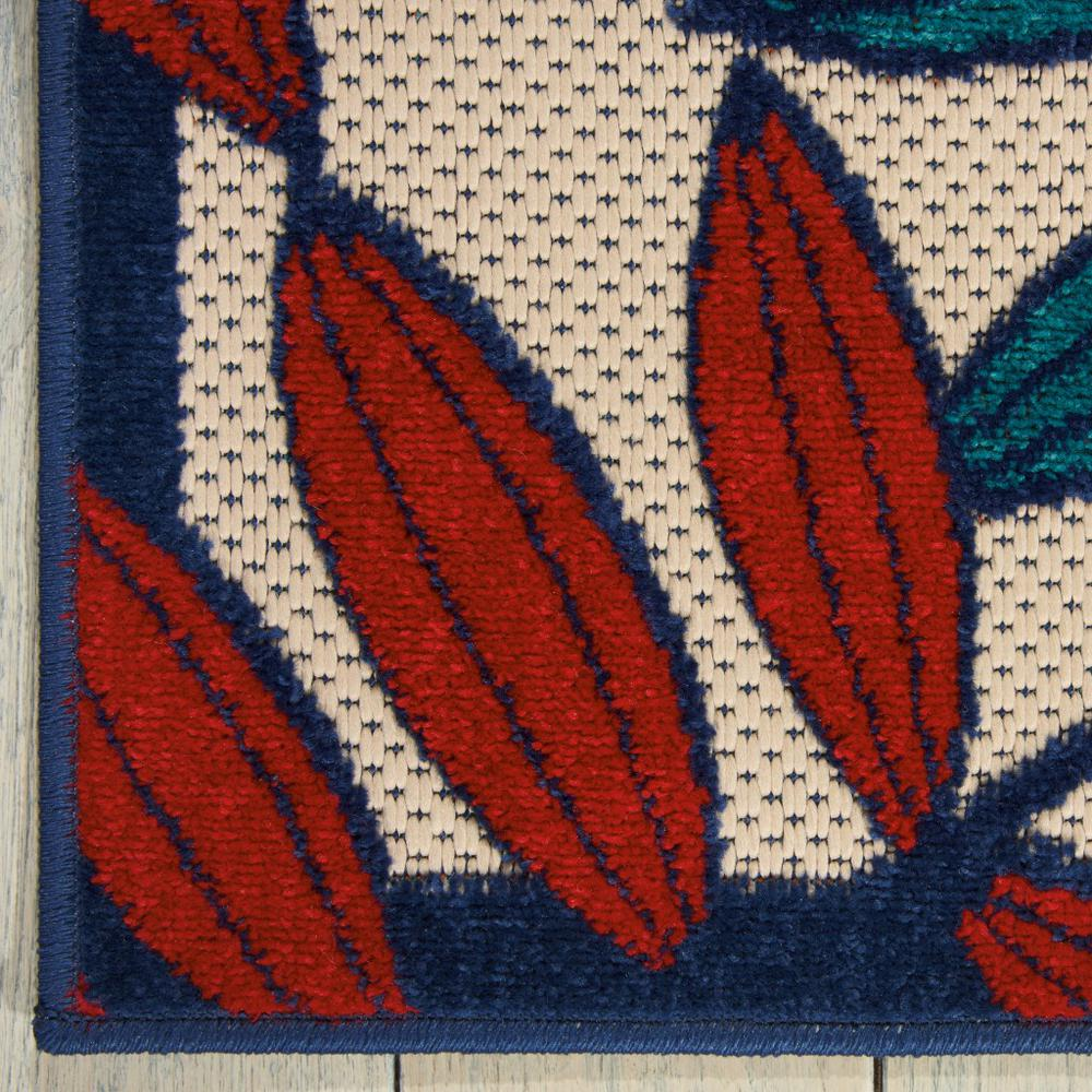 6'x 9' Multicolored Leaves Indoor Outdoor Area Rug - 384945. Picture 2
