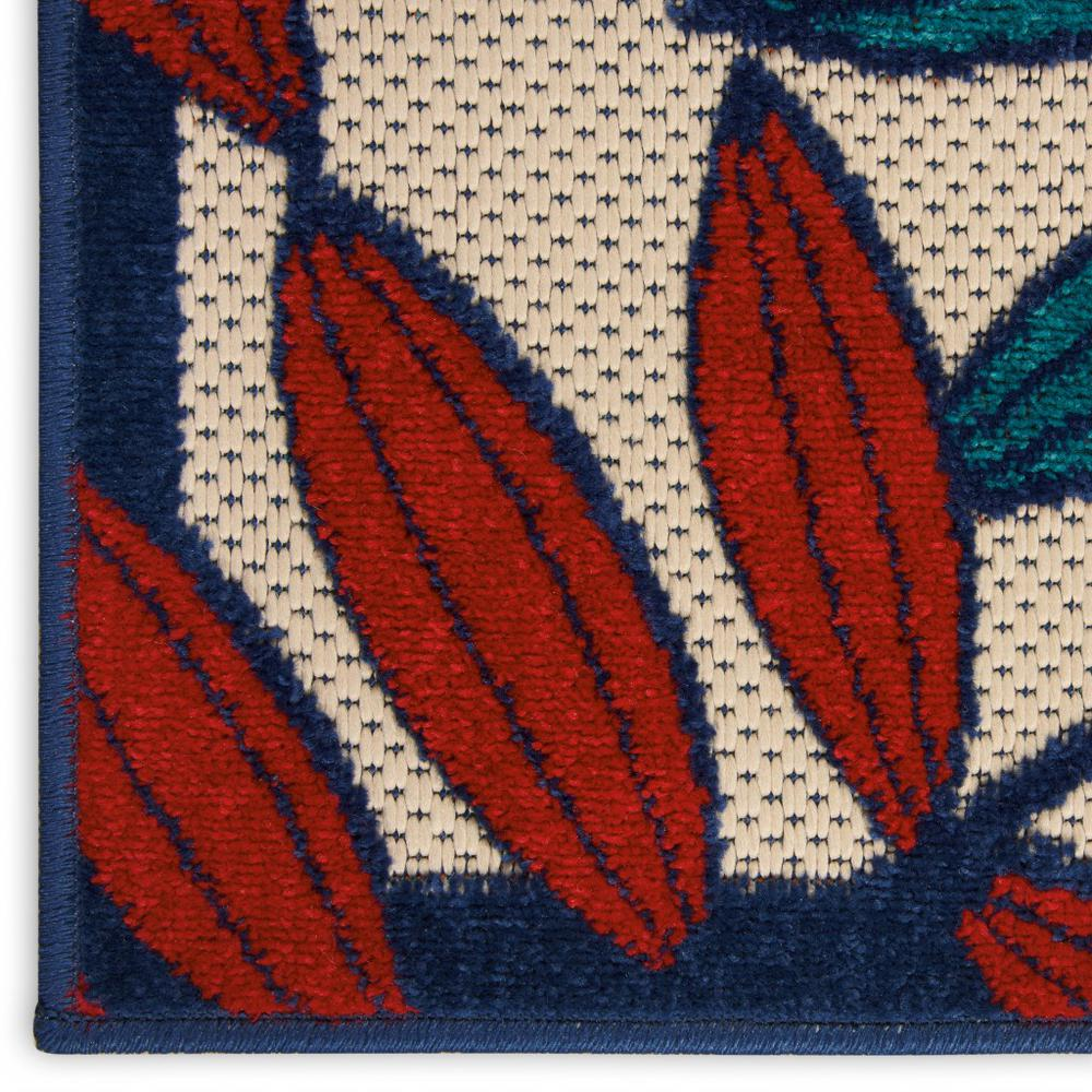 8'x 11' Multicolored Leaves Indoor Outdoor Area Rug - 384947. Picture 7