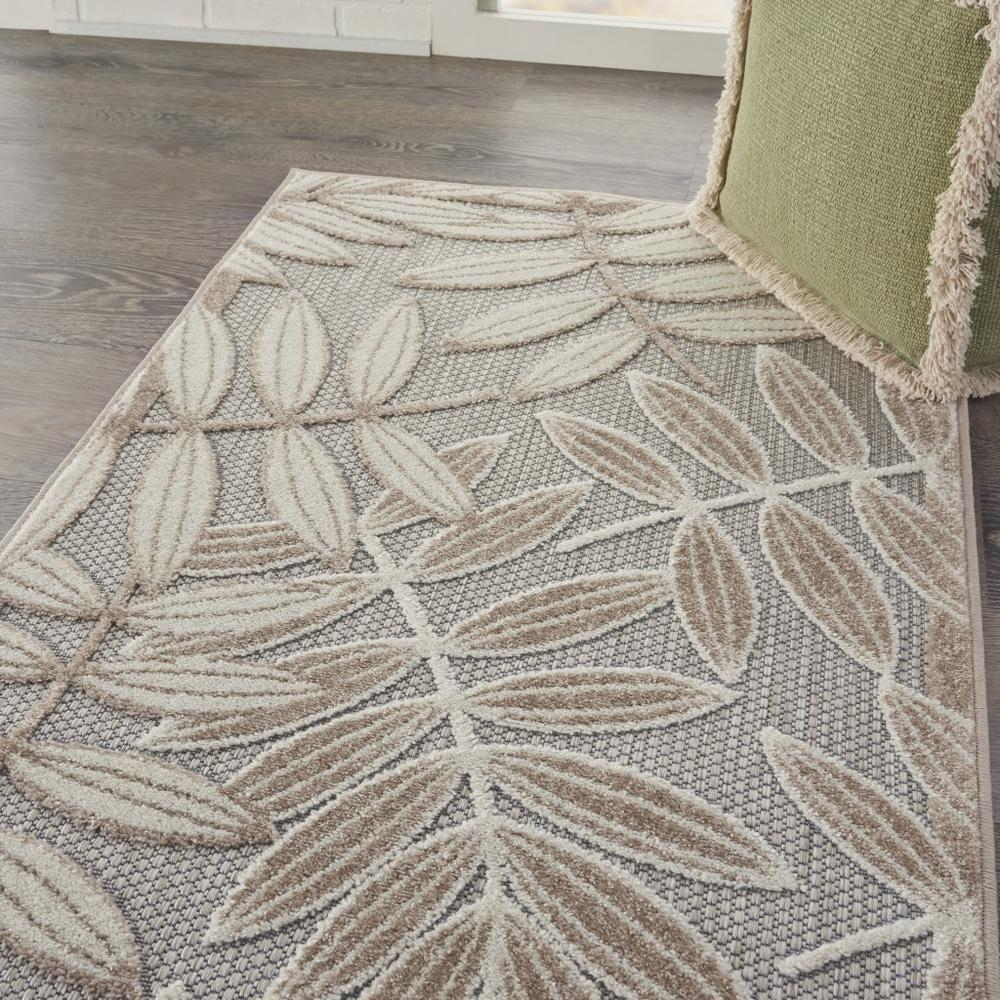 3' x 4' Natural Leaves Indoor Outdoor Area Rug - 384953. Picture 5