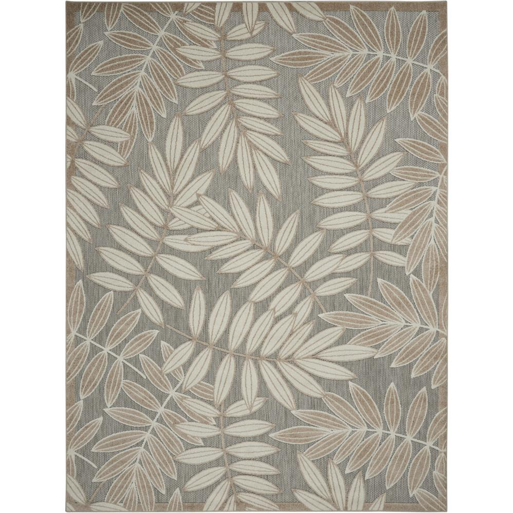 4' x 6' Natural Leaves Indoor Outdoor Area Rug - 384954. Picture 1
