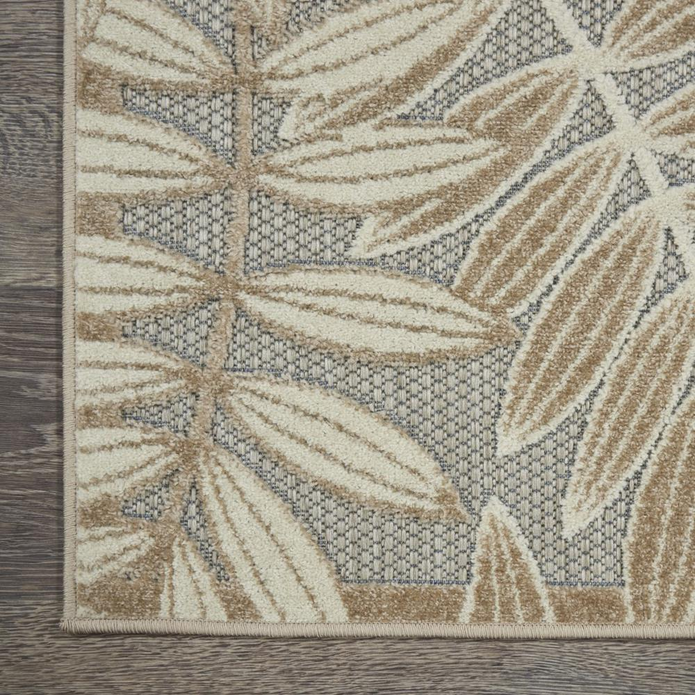 4' x 6' Natural Leaves Indoor Outdoor Area Rug - 384954. Picture 2