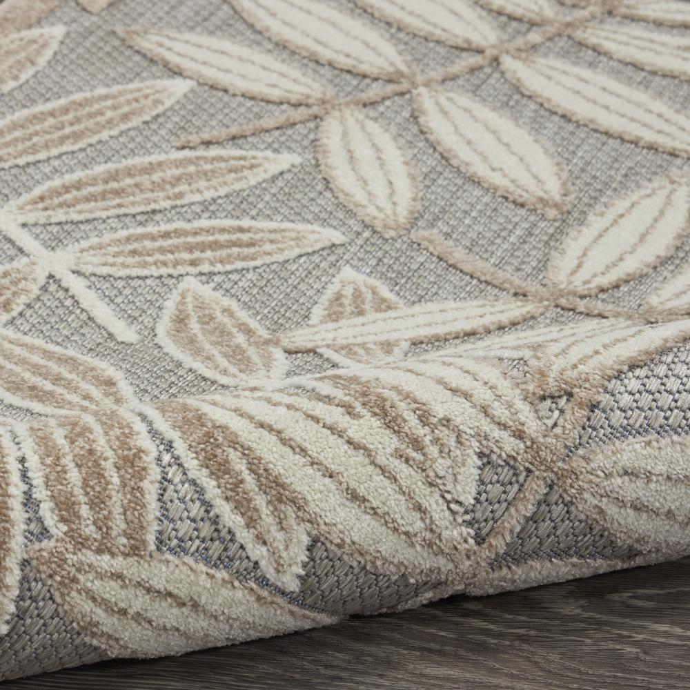 4' x 6' Natural Leaves Indoor Outdoor Area Rug - 384954. Picture 3