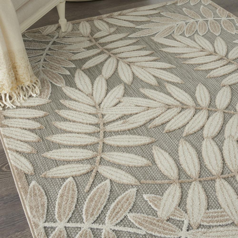 4' x 6' Natural Leaves Indoor Outdoor Area Rug - 384954. Picture 5