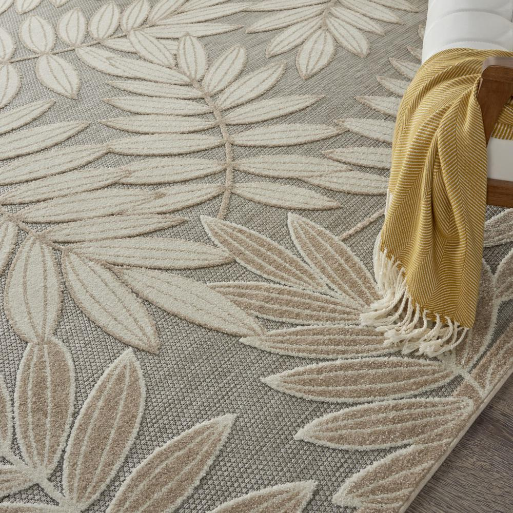 8' x 11' Natural Leaves Indoor Outdoor Area Rug - 384960. Picture 5