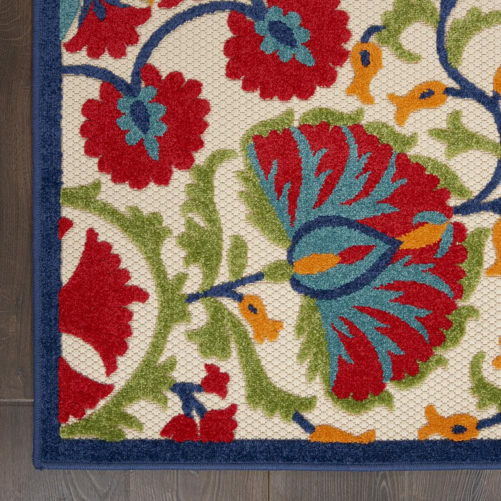 2' x 6' Red and Multicolor Indoor Outdoor Runner Rug - 384990. Picture 2