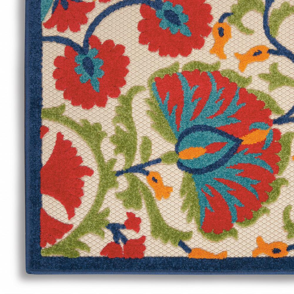 3' x 4' Red and Multicolor Indoor Outdoor Area Rug - 384994. Picture 2