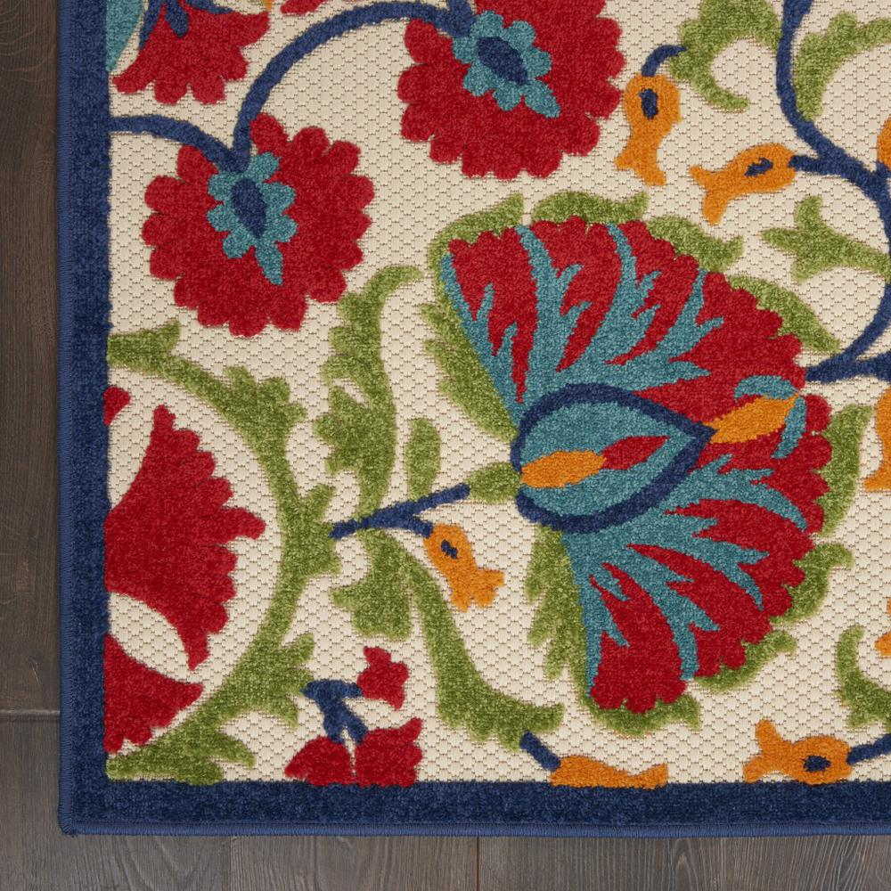 6' x 9' Red and Multicolor Indoor Outdoor Area Rug - 384995. Picture 2