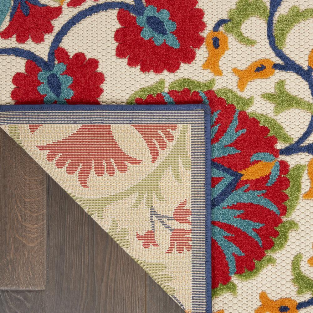 4' x 6' Red and Multicolor Indoor Outdoor Area Rug - 384997. Picture 2
