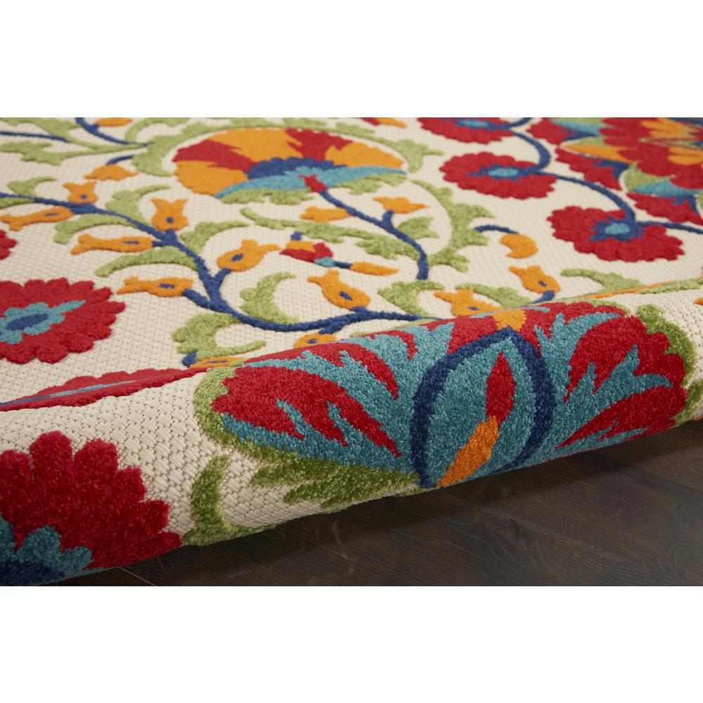 5' x 8' Red and Multicolor Indoor Outdoor Area Rug - 384999. Picture 3