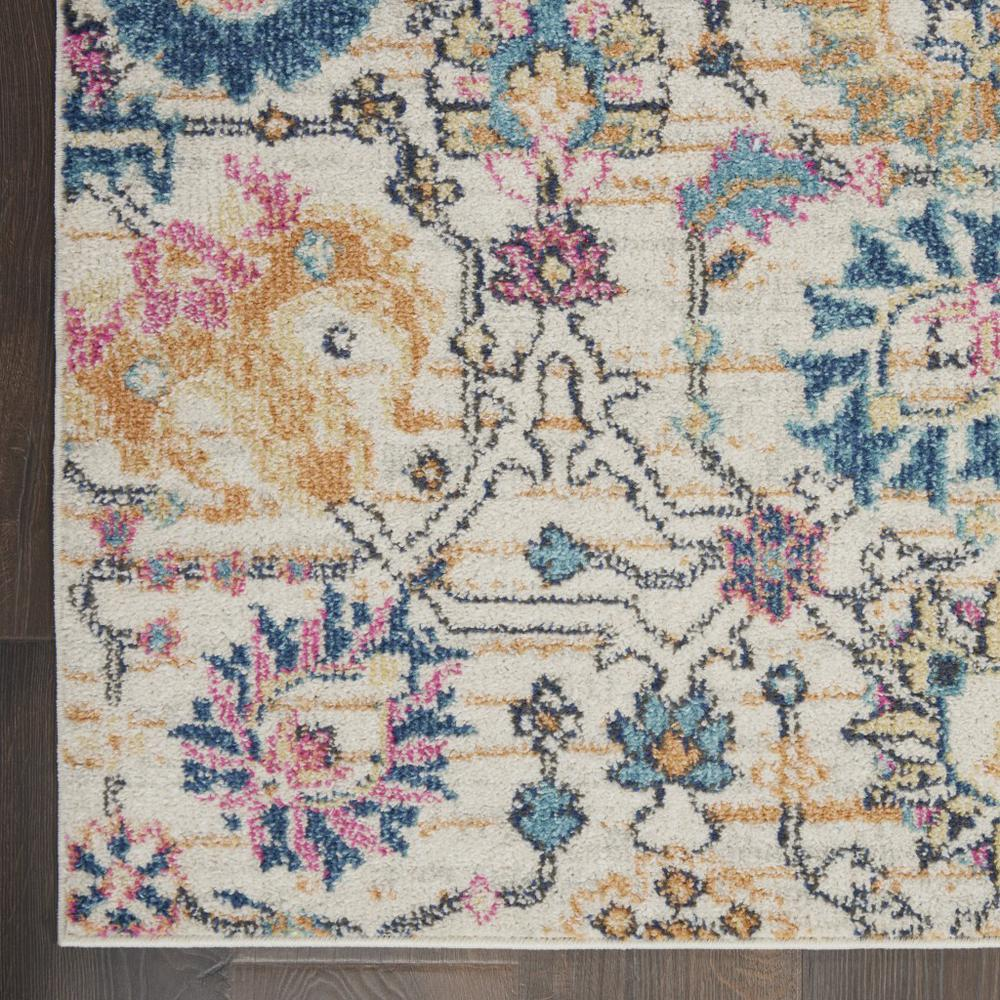 2' x 10' Ivory and Multicolor Floral Buds Runner Rug - 385203. Picture 2