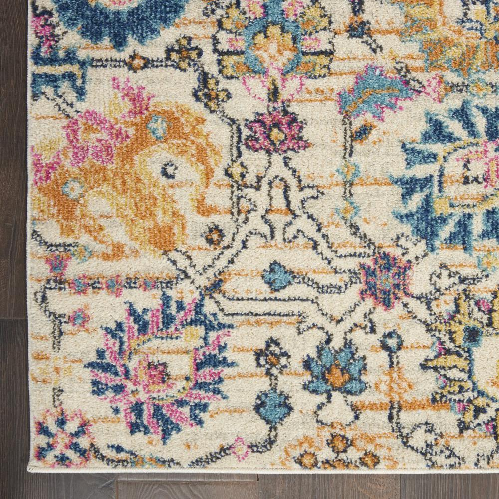 5' x 7' Ivory and Multicolor Floral Buds Area Rug - 385211. Picture 2