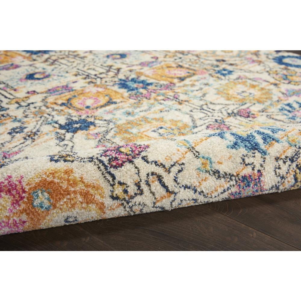 5' x 7' Ivory and Multicolor Floral Buds Area Rug - 385211. Picture 3