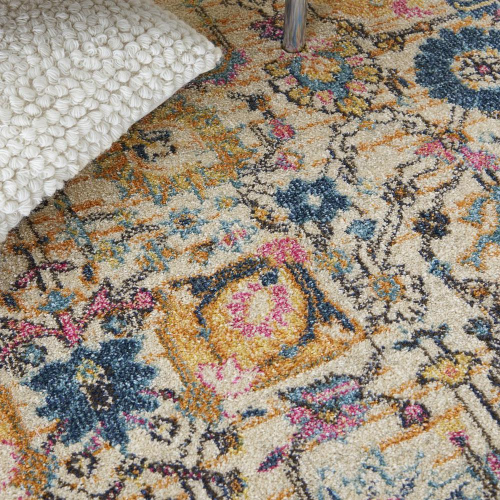 5' x 7' Ivory and Multicolor Floral Buds Area Rug - 385211. Picture 5