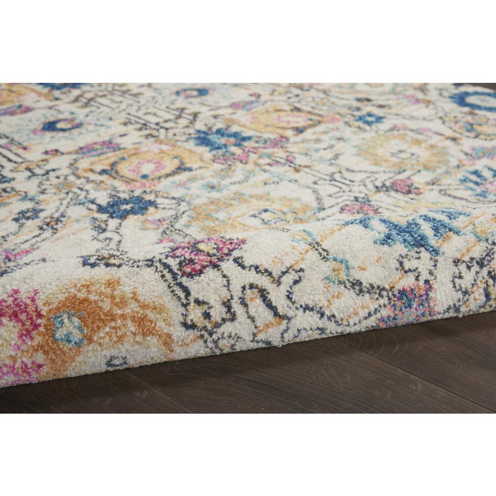 7' x 10' Ivory and Multicolor Floral Buds Area Rug - 385215. Picture 3