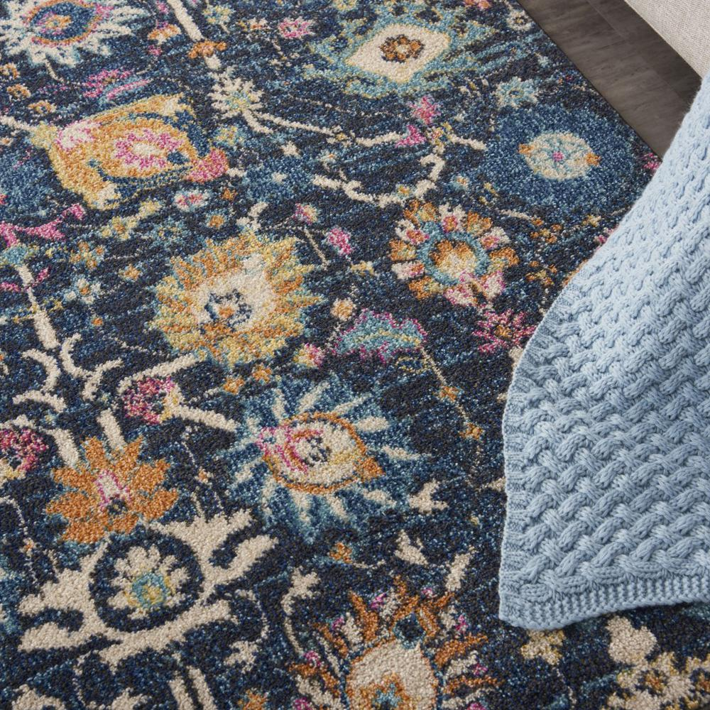 5' x 7' Navy Blue Floral Buds Area Rug - 385229. Picture 5
