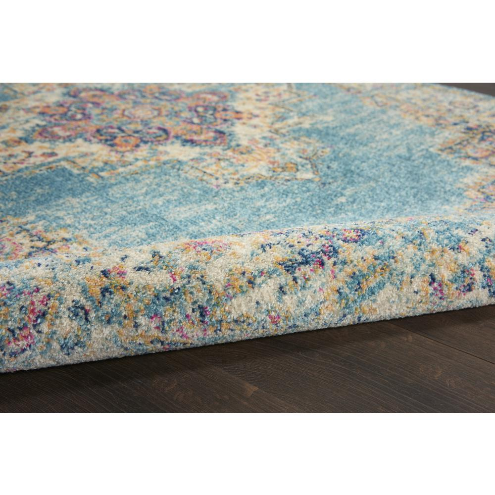 7'x10' Light Blue Distressed Medallion Area Rug - 385336. Picture 3