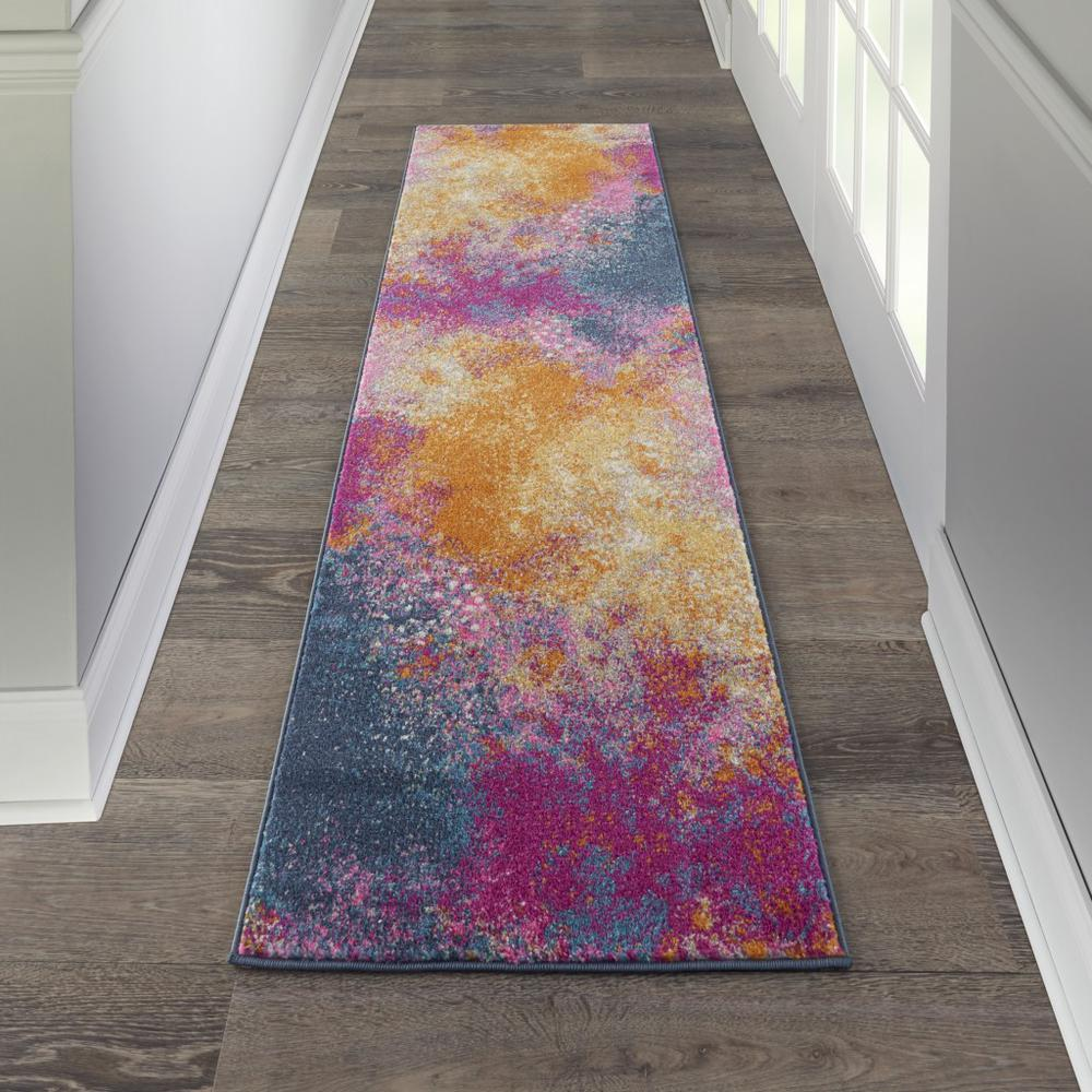 2' x 8' Abstract Brights Sunburst Runner Rug - 385376. Picture 4