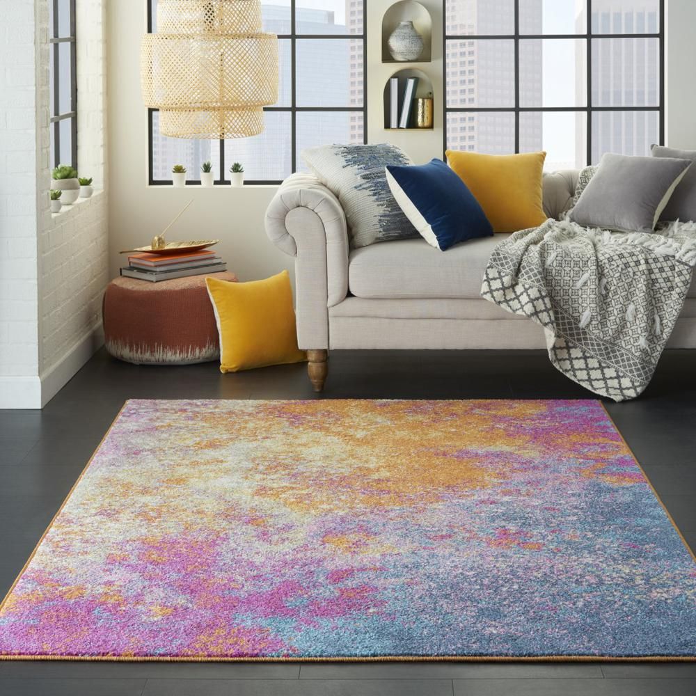 4' x 6' Abstract Brights Sunburst Area Rug - 385377. Picture 4
